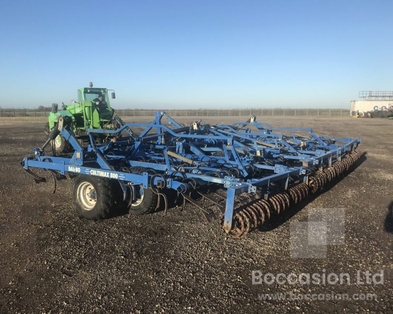 Dalbo Cultimax 800 seed bed cultivator.