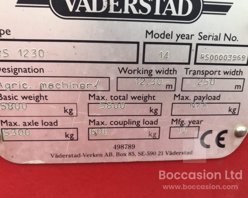Vaderstad Rexuis RS 1230 cambrige rolls