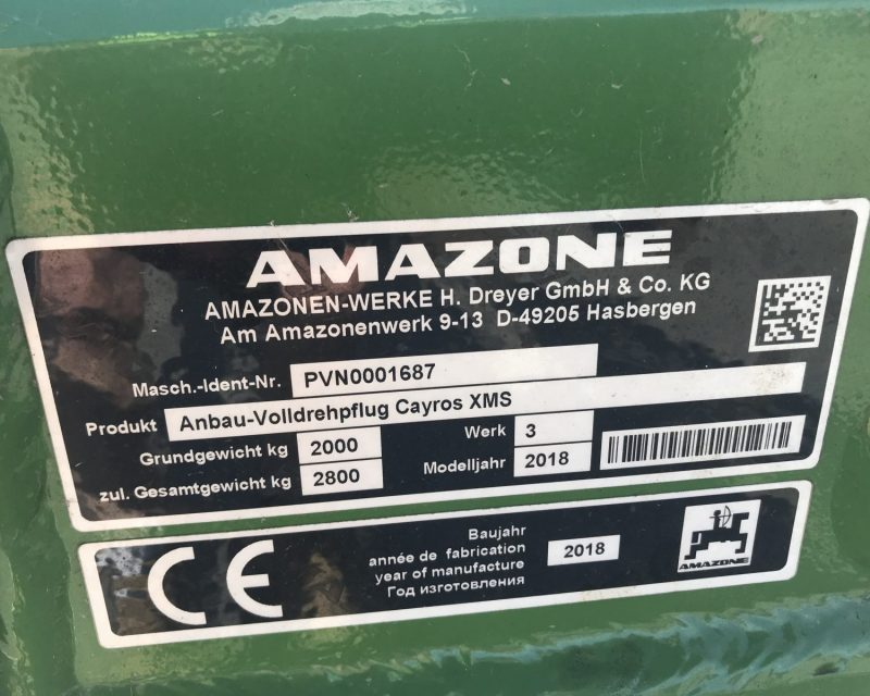 Amazone Cayros XMS 4+1 auto reset.