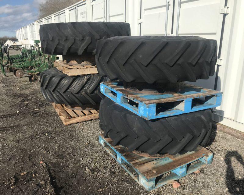Stocks AG 16.9R30 dual wheels.