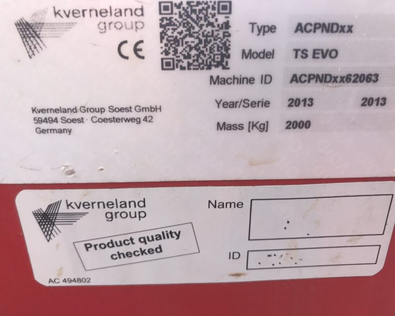 Kverneland TS Evo 4800