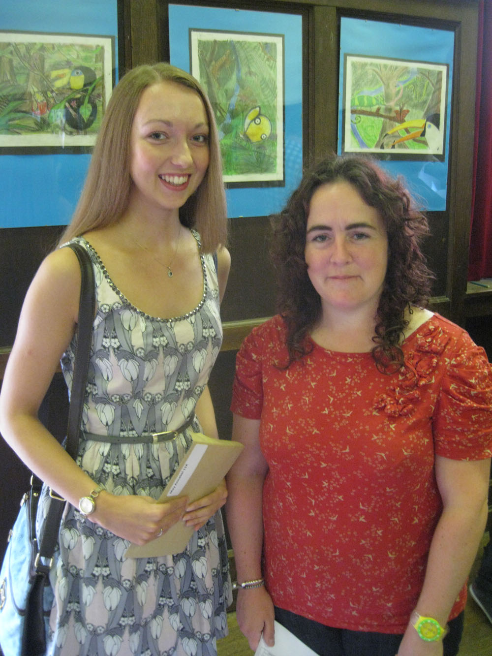 Leading GCSE student, Annabel May with Design and Technology teacher and Head of Hansard, Mrs Louise Triggs