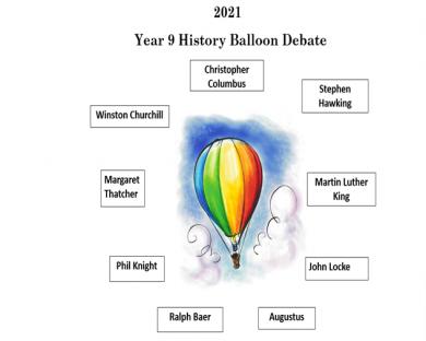 2021 – Year 9 History Balloon Debate