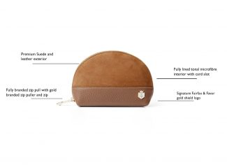 Fairfax & Favor – The Chiltern Cosmetic Bag – Tan