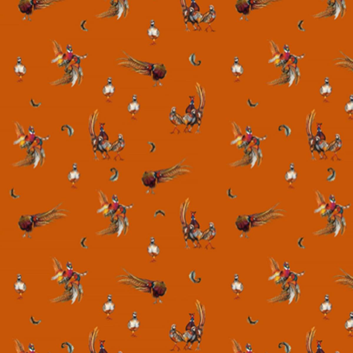 Clare Haggas Game Bird Scrunchie – Russet