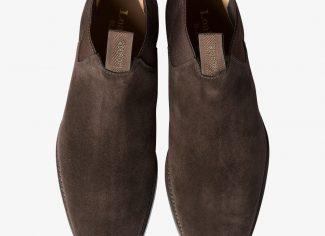 Loake Chatsworth Boot – Dark Brown Wax Suede
