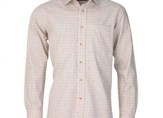 Laksen Robin Cotton/ Wool Shirt – Brown, Olive & Orange