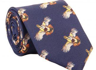 Clare Haggas High Flyer Partridge Tie – Navy