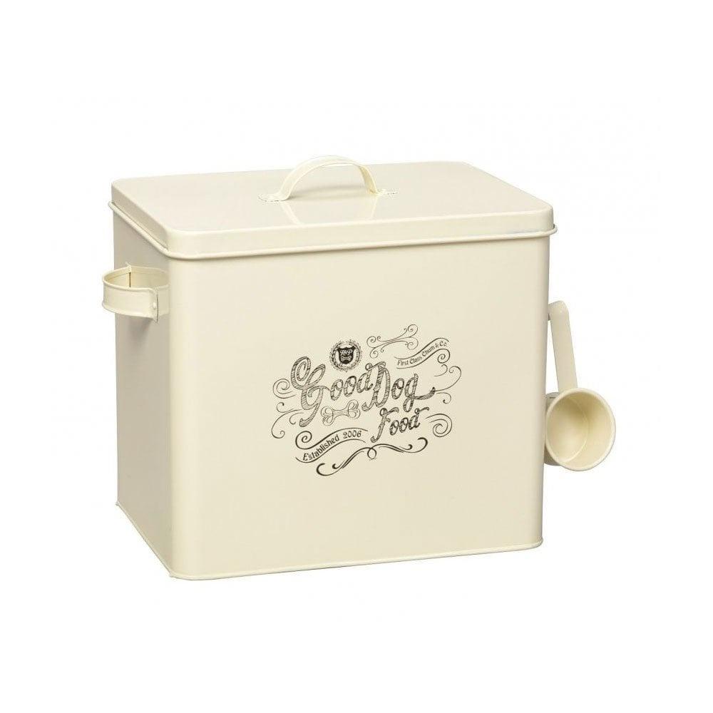 House of Paws 'Good Dog' Cream Food Tin + Scoop Large Cream