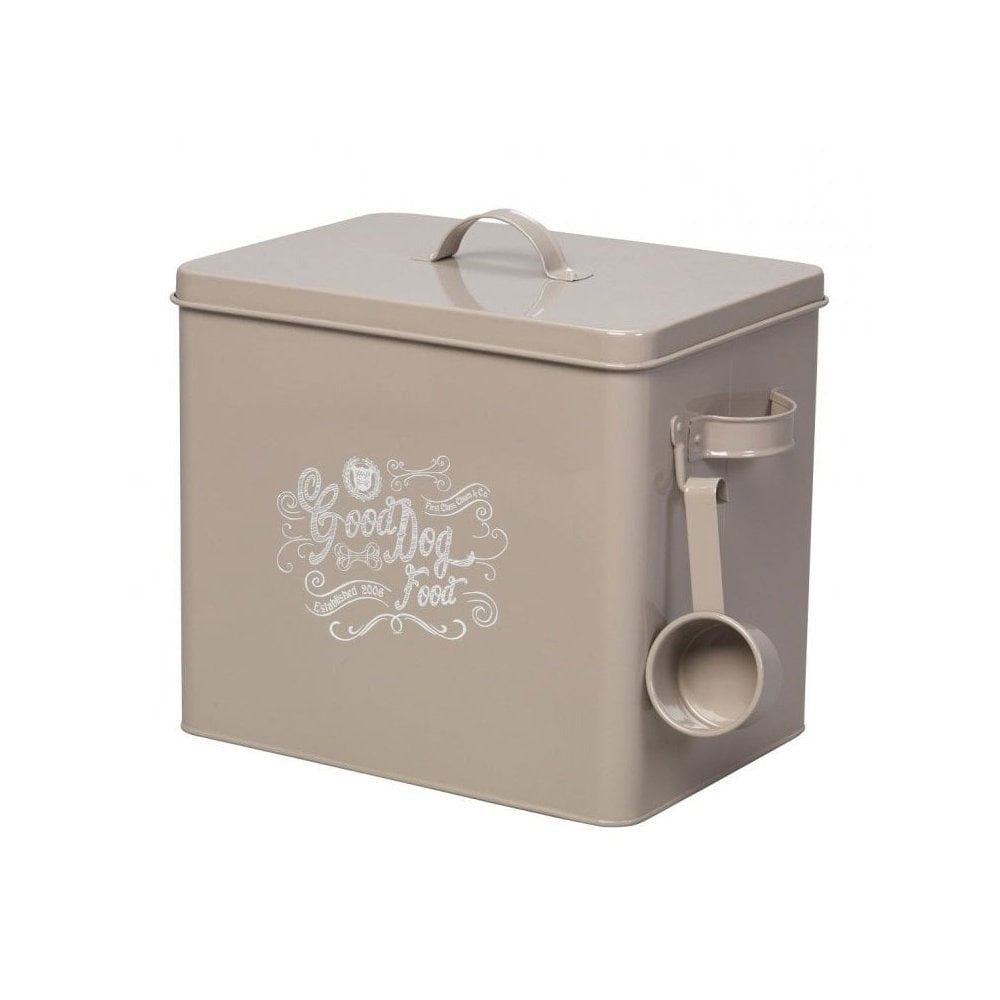 House of Paws 'Good Boy' Grey Food Tin + Scoop Large