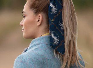 Clare Haggas Equestrian Scrunchie – Navy