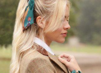 Clare Haggas Game Bird Scrunchie – Teal