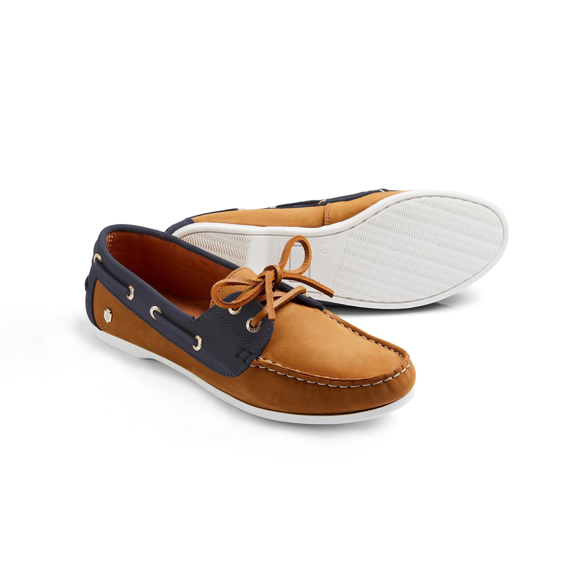 Fairfax & Favor – The Salcombe Deck Shoe – Tan  & Navy