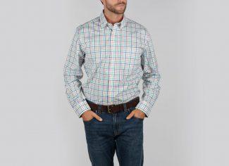 Schoffel Holkham Classic Shirt- Mint/ Mykonas/ Coral