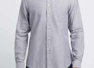 RM Williams Jervis Button Down Shirt – Grey/Blue
