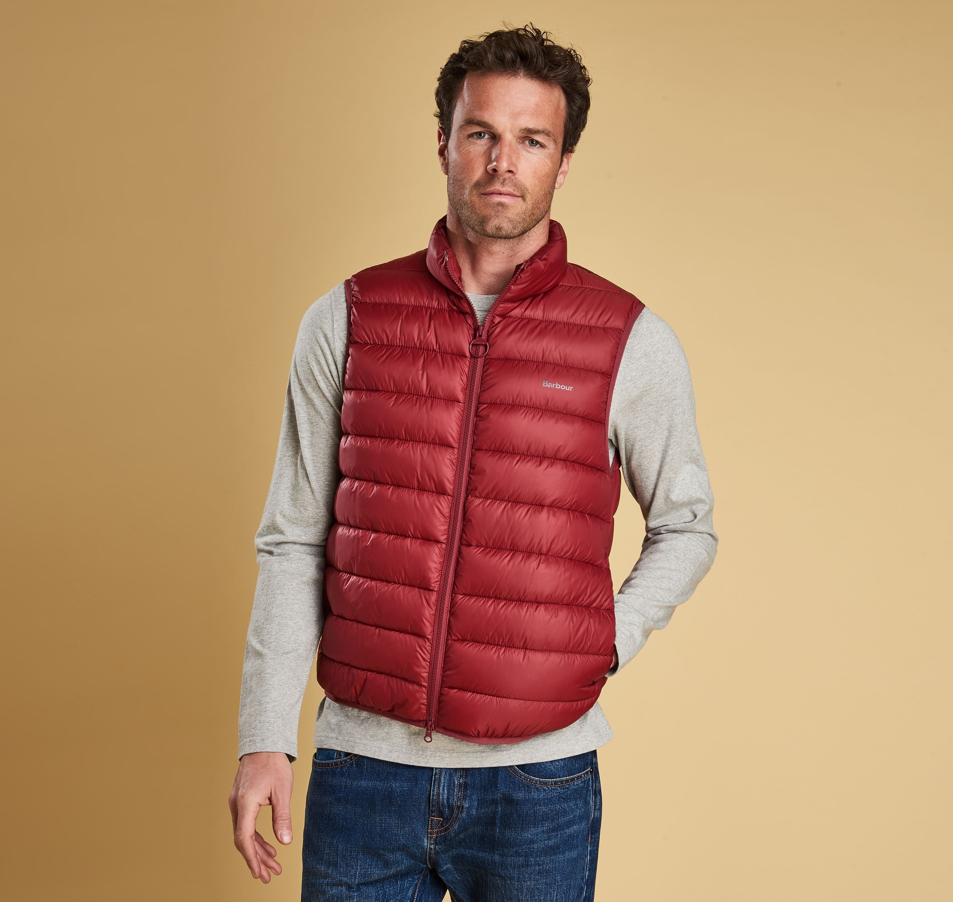 Barbour Bretby Gilet – Red