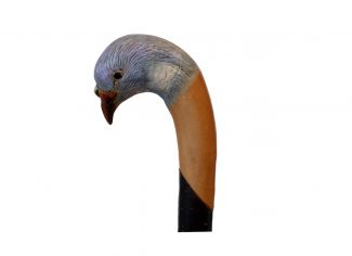 Hand Carved Walking Stick – Pigeon