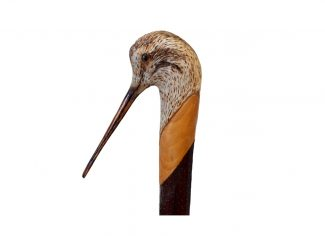 Hand Carved Walking Stick – Woodcock