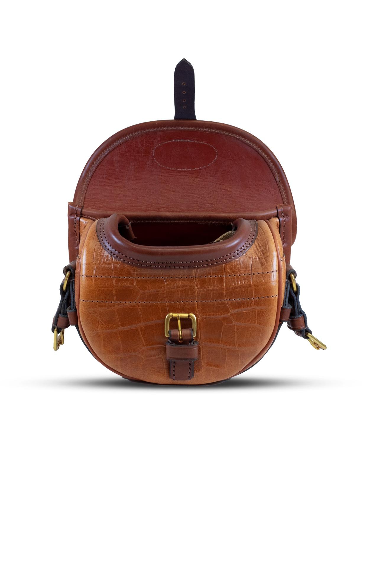 Best Leather Cartridge Bag (75) – Tan/Crocodile Print
