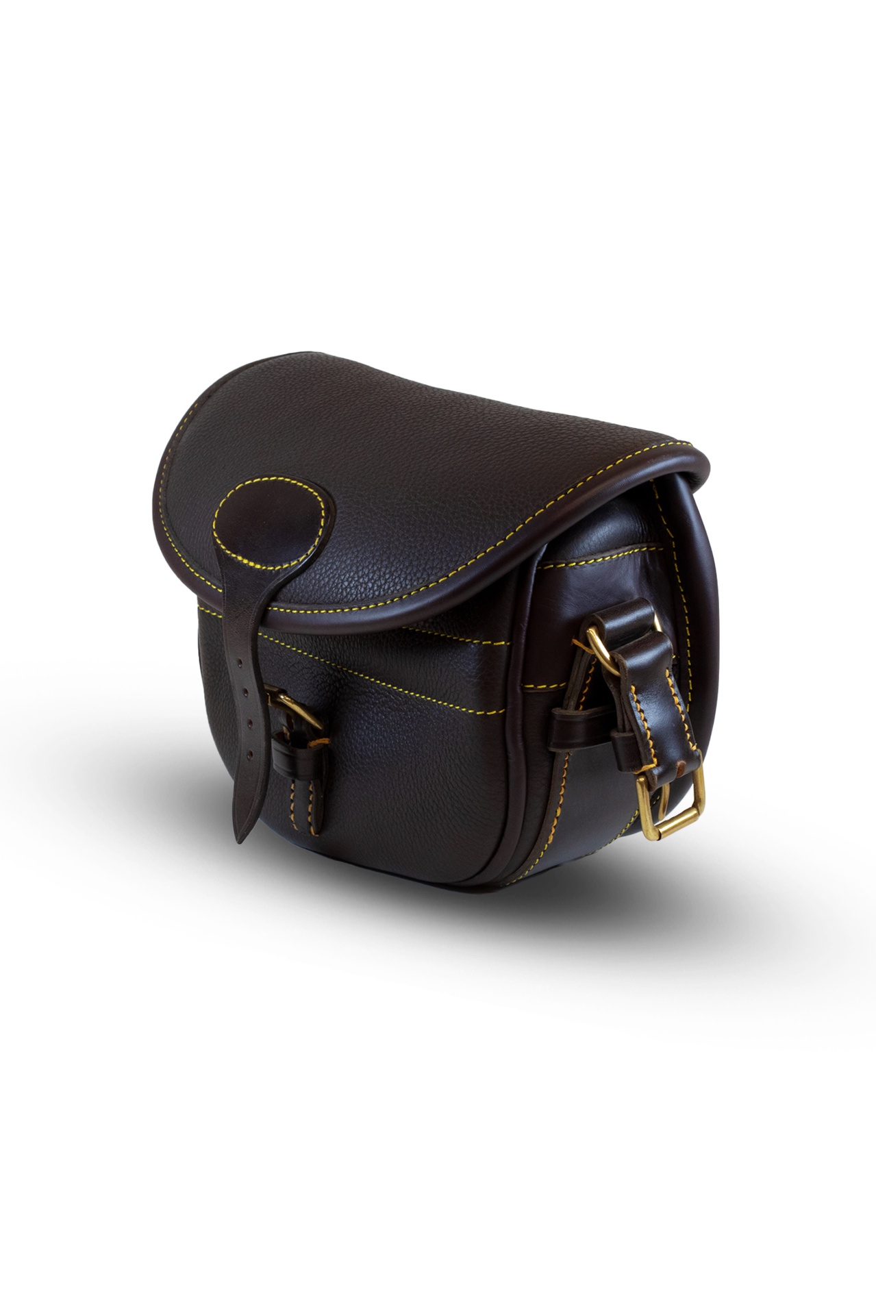 Best Leather Cartridge Bag (100) – Dark Brown Textured