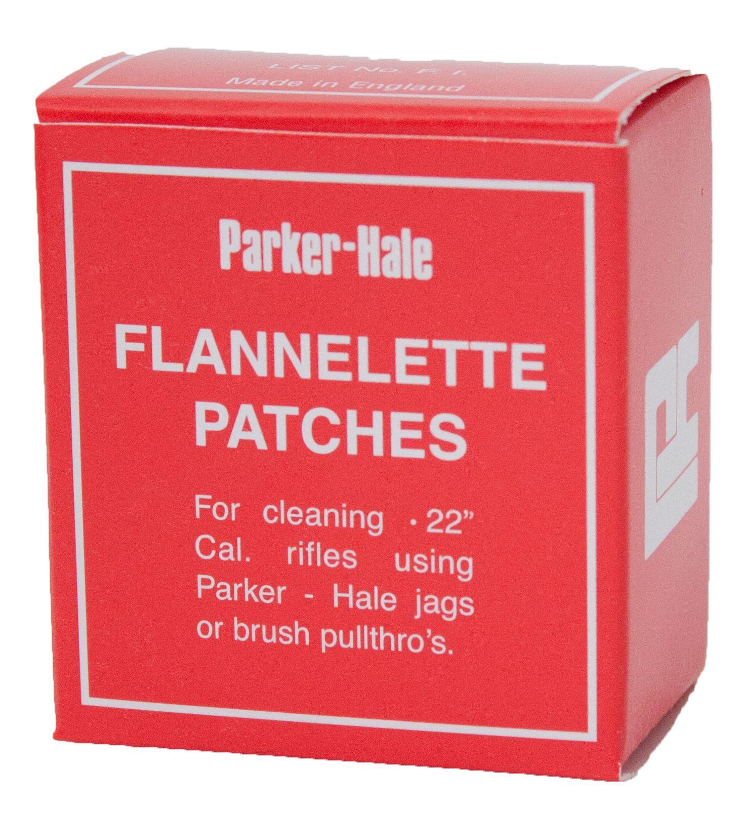 Parker Hale Flannelette Barrel Patches – .22 List No. F.1. (30x50mm)