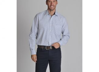 Schoffel Cambridge Check Shirt – Navy