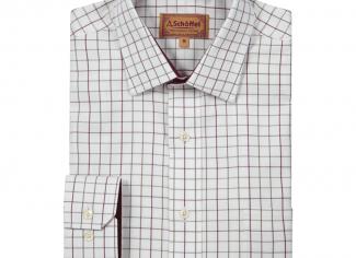 Schoffel Classic Tattersall Shirt Burnham – Ruby Check
