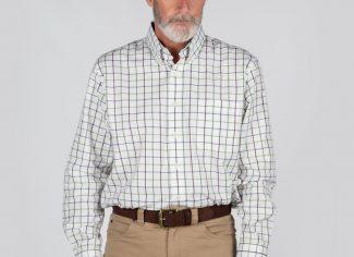 Schoffel Brancaster Shirt – Navy/ Brown/ Olive