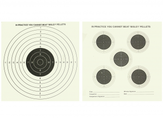 Bisley Five & One Bull Targets Grade 1 (Pack of 25)