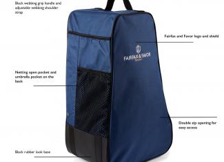 Fairfax & Favor – The Signature Boot Bag – Navy