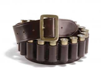 Croots Malton Bridle Leather Cartridge Belt – 12g – Dark Havana