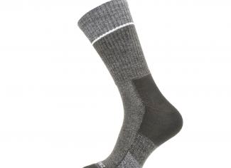 Sealskinz Solo QuickDry Mid Length Sock – Black/Grey