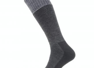 Sealskinz Solo Quick Dry Knee Sock – Black/Grey