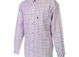 Beretta Classic Shirt – White, Pink & Lilac Check