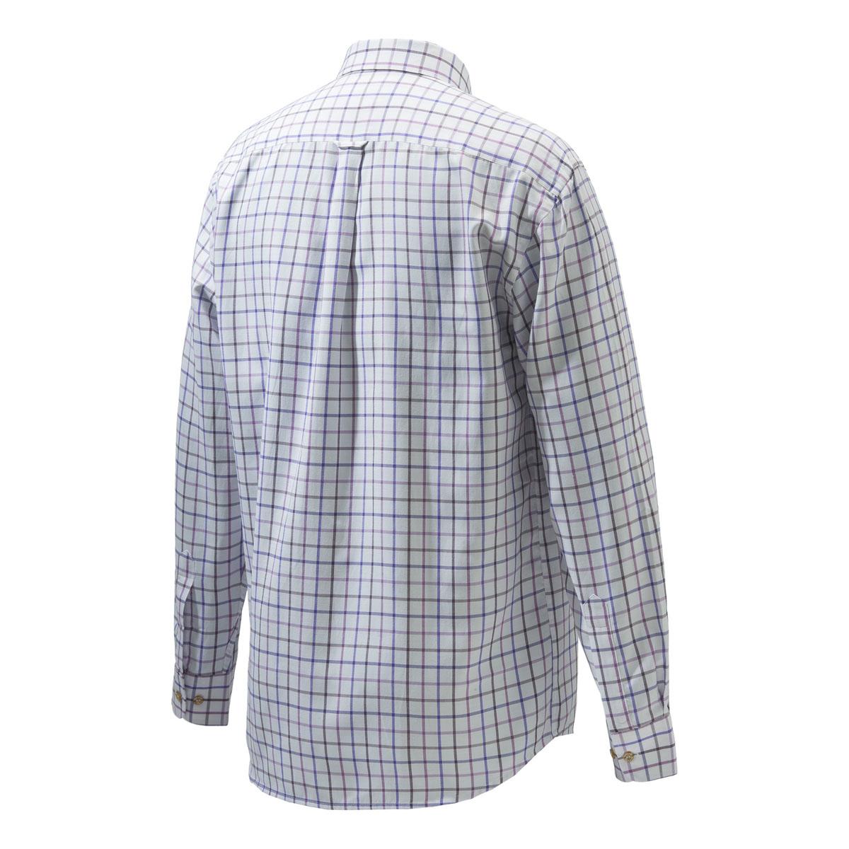 Beretta Classic Shirt – White & Violet Fancy Check