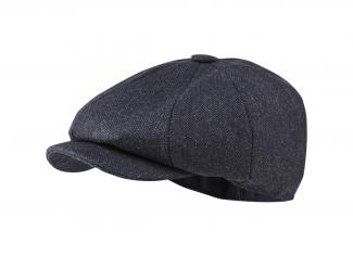 Schoffel Newsboy Cap – Navy Herringbone Tweed