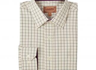 Schoffel Burnham Tattersall Classic Shirt – Aubergine Check