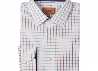 Schoffel Burnham Tattersall Classic Shirt – Bordeaux Check