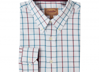 Schoffel Brancaster Classic Shirt – Bordeuax/ Teal Wide