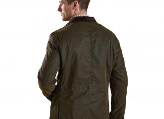 Barbour Lutz Wax Jacket – Olive