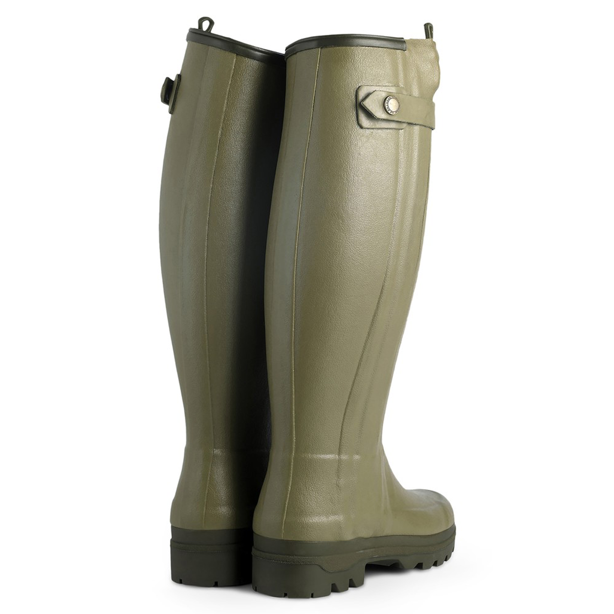 Le Chameau Women's Chasseur Neoprene Lined Wellington Boots – Vert Vierzon
