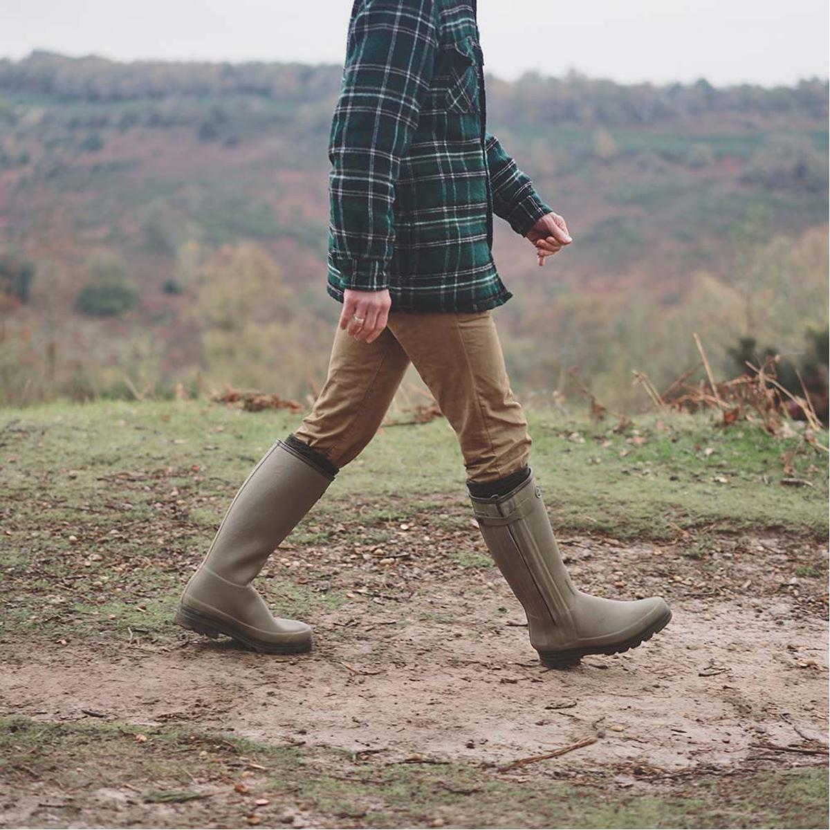 Le Chameau Men's Chasseur Neoprene Lined  Wellington Boots – Vert Vierzon