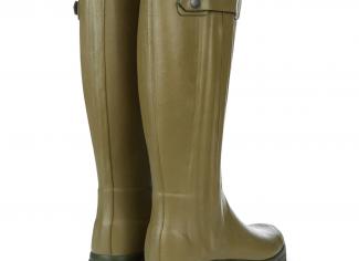 Le Chameau Men's Chasseur Leather Lined Wellington Boots – Vert Vierzon