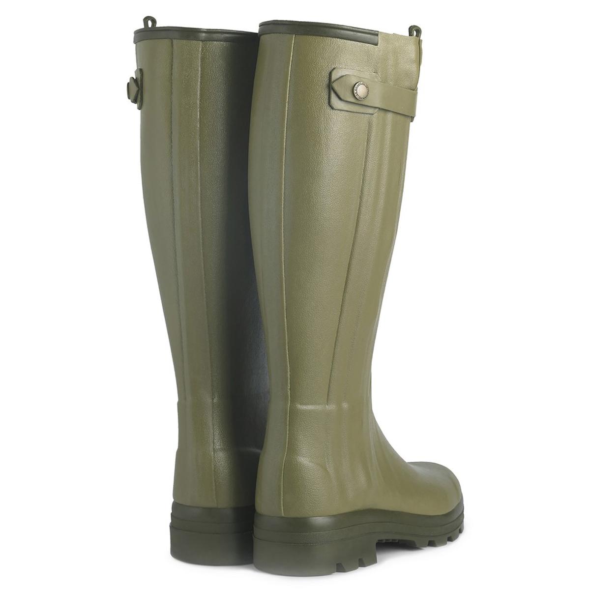 Le Chameau Women's Chasseur Leather Lined Wellington Boots – Vert Vierzon