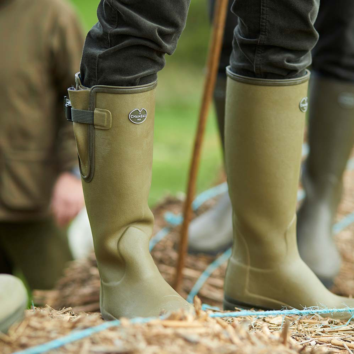 Le Chameau Women's Vierzon Jersey Lined Wellington Boots – Vert Vierzon