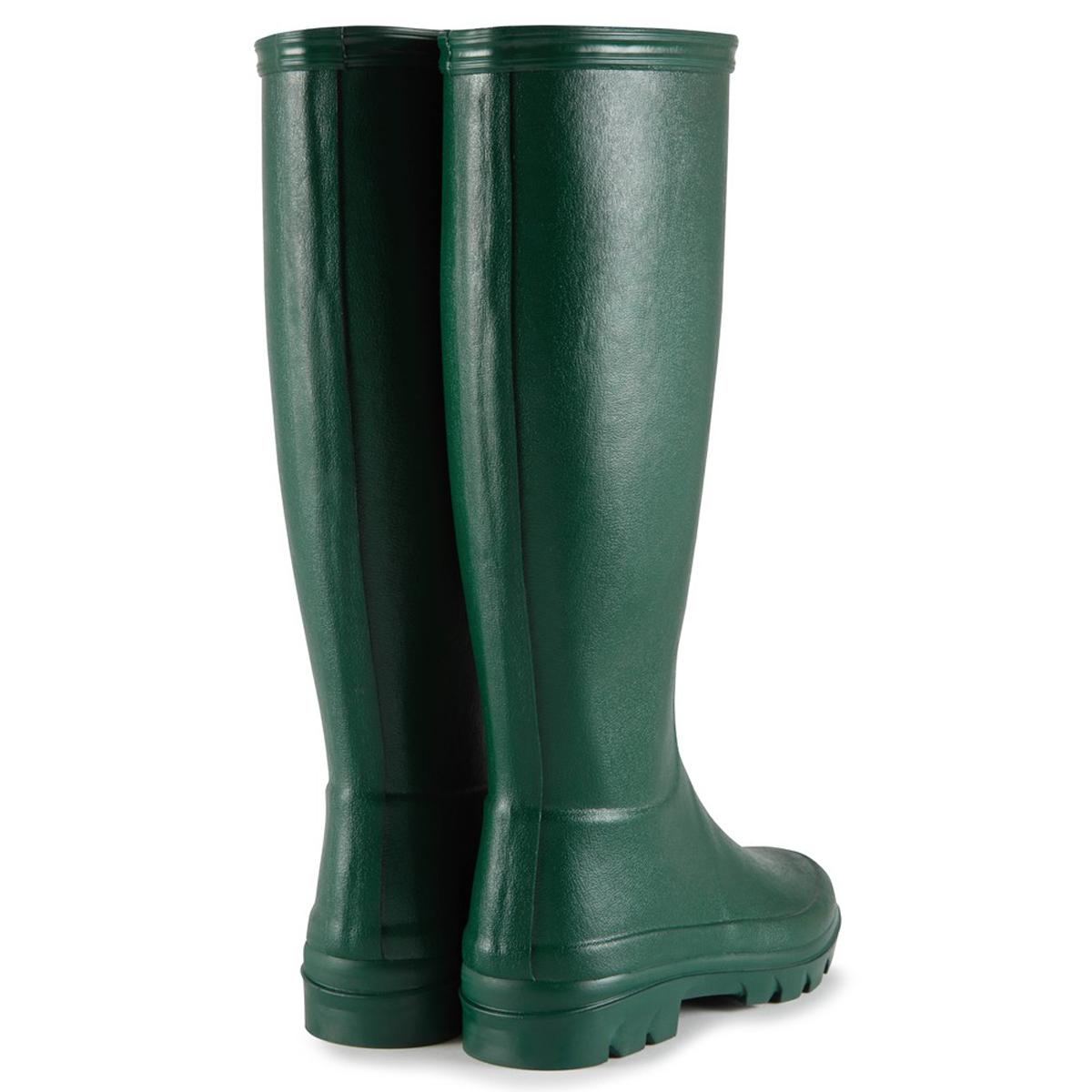 Le Chameau Women's Iris Jersey Lined Wellington Boots – Vert Foncé