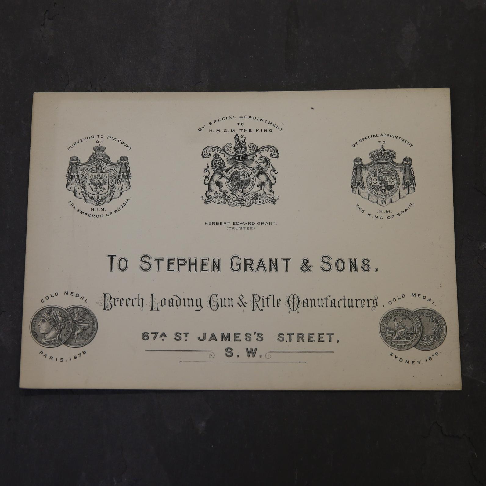 Stephen Grant & Sons Case Label