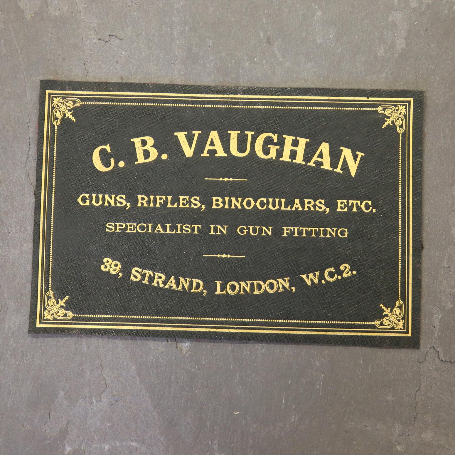 C.B Vaughan Leather Case Label