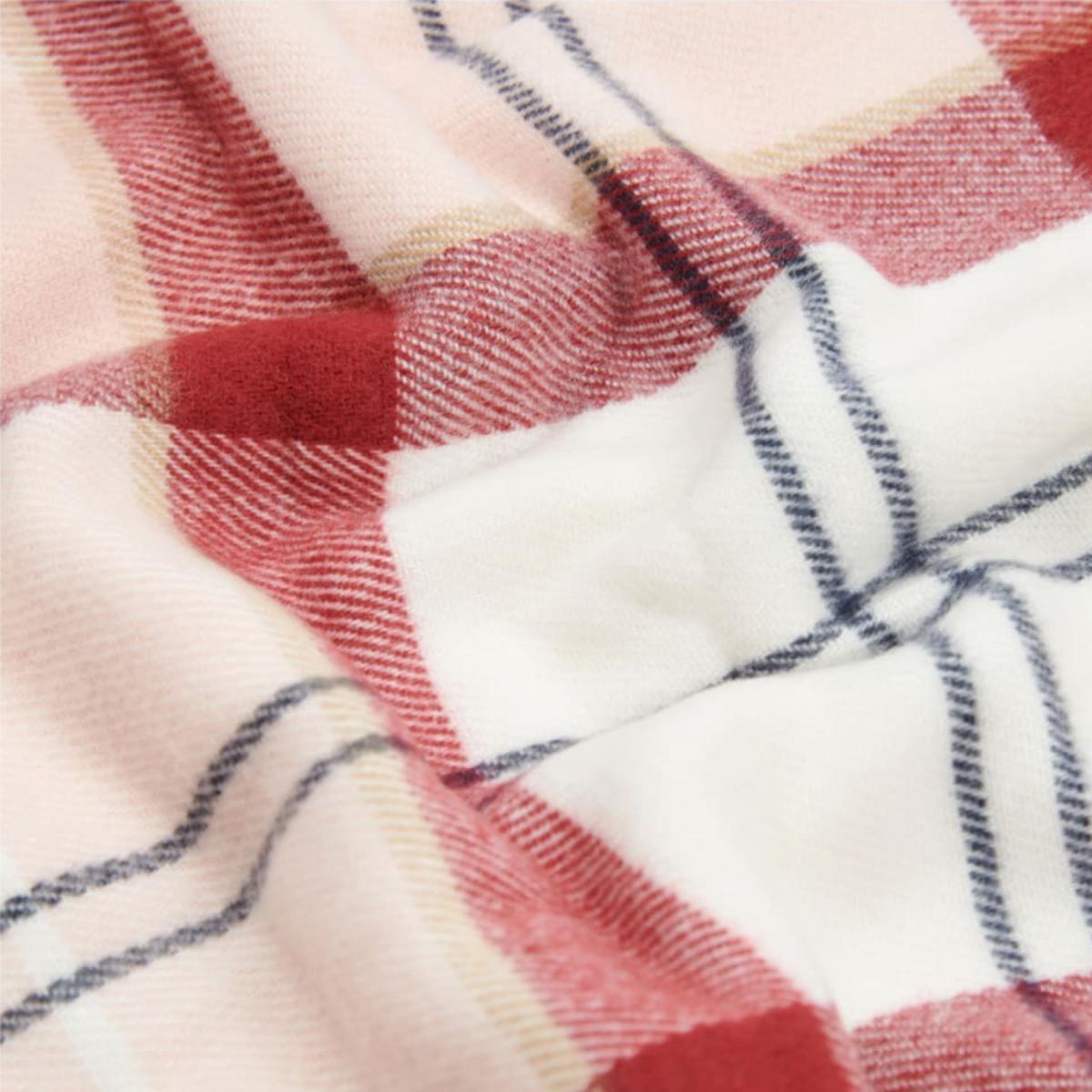 Barbour Hailes Tartan Wrap – Red/ Pink