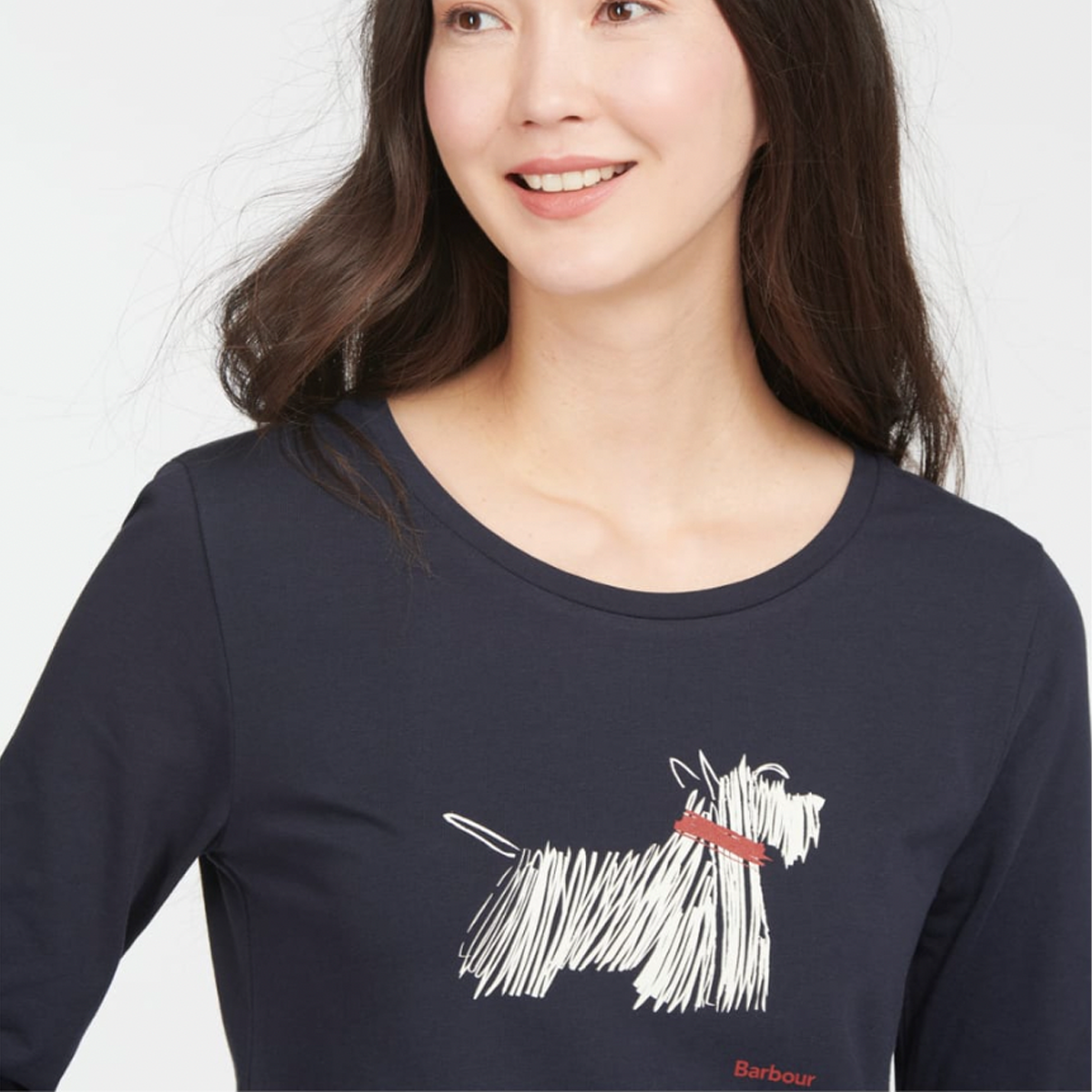Barbour Lossie Long Sleeve T-Shirt – Navy